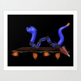 Dragon and Lantern Plant Art Print