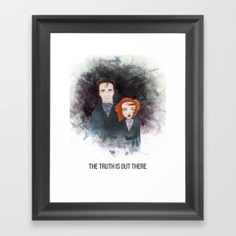 Mulder & Scully Framed Art Print