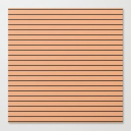Thin Black Lines On Peach Canvas Print