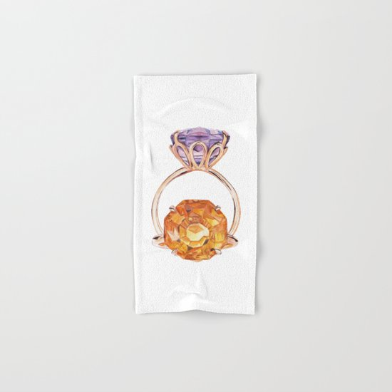 Circles in circles Hand & Bath Towel