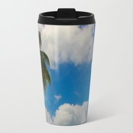 Tropical Palm with Blue Skies Travel Mug