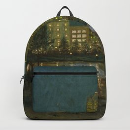 Central Park and Plaza Hotel, NY, NY by William Anderson Coffin Backpack