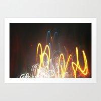 light waves Art Print