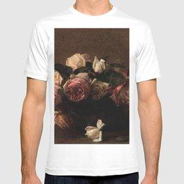 Henri Fantin-Latour - Pink flowers (Rosario) T-shirt