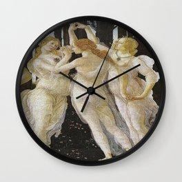 My Boticelli Serie :  Three Graces in Primavera Wall Clock