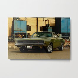 1968 Dodge Charger R/T - One Perfect Perspective (New Version) Metal Print