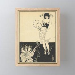 AUBREY BEARDSLEY Salome Oscar Wilde - The Stomach Dance Framed Mini Art Print