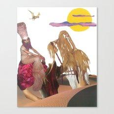 King Hairy III & Queen Georgina enjoy a fluffcamuff ride across the Tipsy Desert Canvas Print