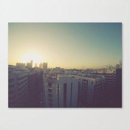 Sunrise on Dubai Skyline Canvas Print