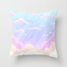 Pastel Heaven Throw Pillow