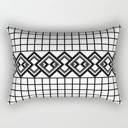 Links on a grid Rectangular Pillow