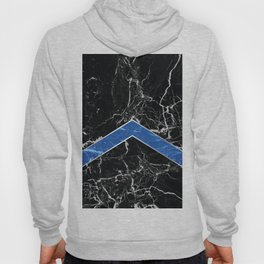 Arrows - Black Granite & Blue Granite #595 Hoody