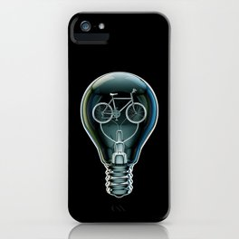 Dark Bicycle Bulb iPhone Case