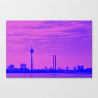 cityscape Canvas Prints featuring Cityscape by DuniStudioDesign
