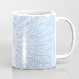 Festive, Winter, Mandala, Snowflake, Sky Blue Coffee Mug
