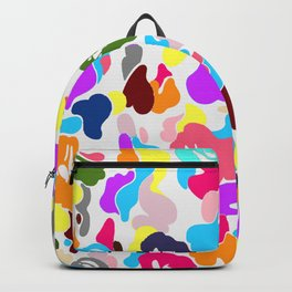 B APE colorful pattern Backpack