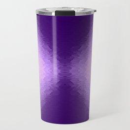 Purple Texture Ombre Travel Mug