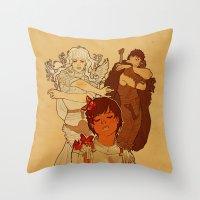 berserk Throw Pillows featuring Sacrifice by Marta Milczarek
