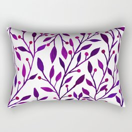 Leafs and iny fruit - purple and pink pallete Rectangular Pillow