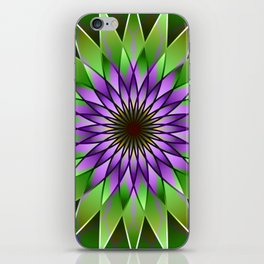 Lavender lotus mandala iPhone Skin
