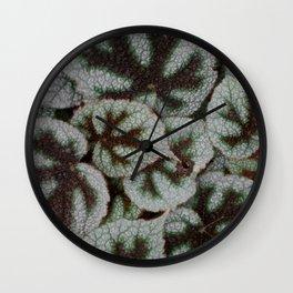 Leaf textures Wall Clock