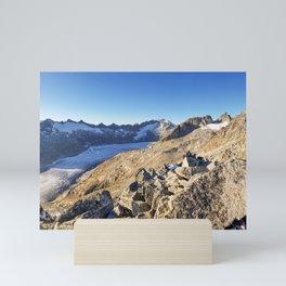 Rhone Glacier In The Swiss Alps Mini Art Print