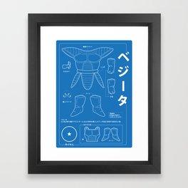 ベジータ - Vegeta Kit Framed Art Print