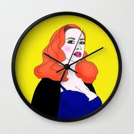 Pin Up Christina Hendricks Wall Clock