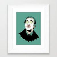 dracula Framed Art Prints featuring DRACULA by DeeDoubleU