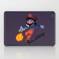 super mario iPad Cases featuring Mario by DROIDMONKEY