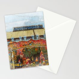 Munich Beer Festival - fairy tale train and Bierzelt Stationery Cards