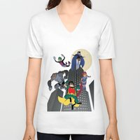 teen titans V-neck T-shirts featuring Teen Titans by Fuacka
