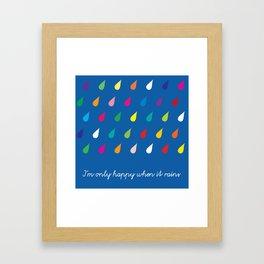 Happy Rain Framed Art Print