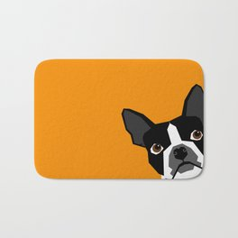 Peeking Terrier funny dog art customizable gift for dog lovers dog person must haves Bath Mat