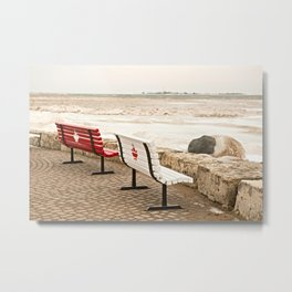 Canadian Benches Metal Print