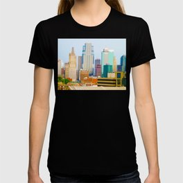 Downtown Kansas City Skyline Tilt Shift Photograph T-shirt