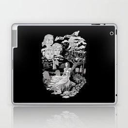 Hispanic Legend La Llorona (black and white) Laptop & iPad Skin