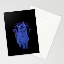 Trippy Cat: 4 Stationery Cards