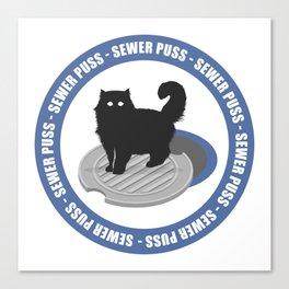 Sewer Puss Blue Canvas Print