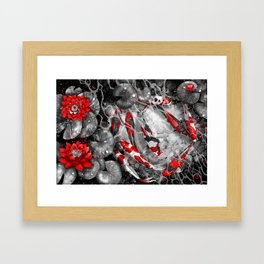 Nine Kois Framed Art Print