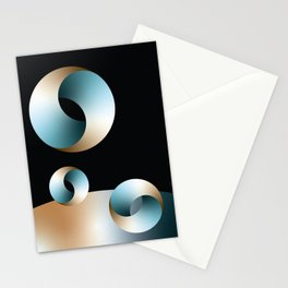 Blue Society Stationery Cards