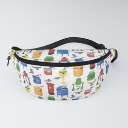 Mailboxes Around the World Fanny Pack