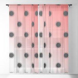 Sun gradient design Sheer Curtain