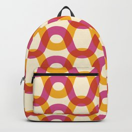 Color Waves - Bright, Fun, Vibrant Wavy Line Pattern Backpack