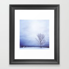 Silver Tree Framed Art Print