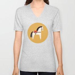 Festive Pony - illustration Unisex V-Neck