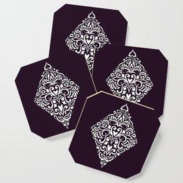 white damask rhombus Coaster