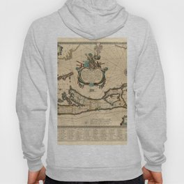 Map of Bermuda 1662 Hoody