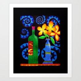 Vino by Anthony Davais Art Print