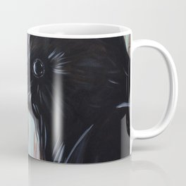 Crow In Blue Coffee Mug